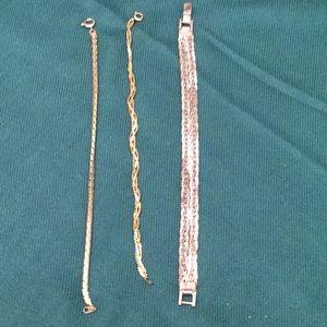 3 BRACELETS 1 SILVER & 2 GOLD 2 for $15
